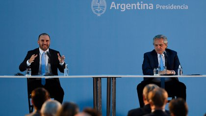 Martín Guzmán y Alberto Fernández (Maximiliano Luna)