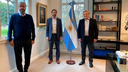 Alberto Fernández recibió a las autoridades de Pfizer en la quinta de Olivos