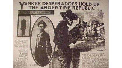 Las andanzas en la Argentina de Butch Cassidy y Sundance Kid en el New York Herald