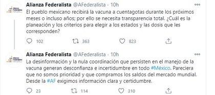 La Alianza Federalista emitió su descontento a través de redes sociales (Foto: Twitter)