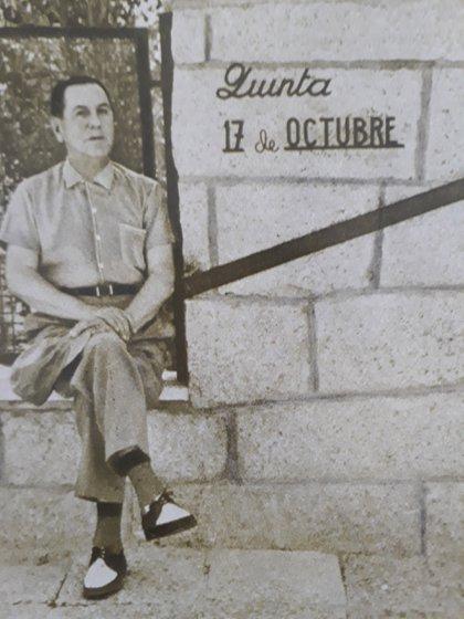 Perón en Puerta de Hierro, donde recibió a Rodolfo Walsh