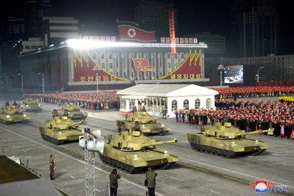 """Durante el Congreso, que duró 8 días, Kim Jong Un afirmó que Estados Unidos es """"el principal enemigo"""" de su país (KCNA via REUTERS)"""