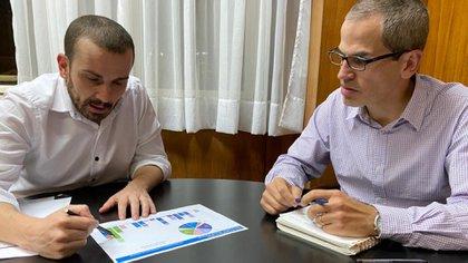 Diego Bastourre y Ramiro Tosi, secretario y subsecretario de Finanzas, los representantes de Guzmán ante el mercado de capitales local. (Foto: Ministerio de Economía)