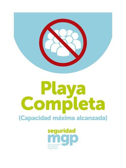 El cartel que colocará el municipio en cada playa que exhiba una cantidad desmedida de personas