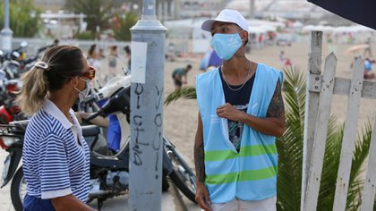 Los agentes del control del municipio fueron dispuestos en los ingresos a las playas