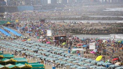 Mar del Plata vio sus playas completas durante el fin de semana pasado