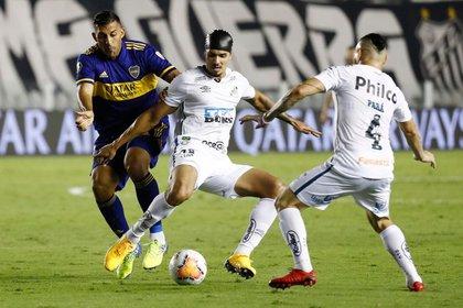 Partido del Santos contra el Boca Juniors en el Estadio Urbano Caldeira, Santos, Brasil - 13 de enero de 2021 Pool a través de REUTERS/Sebastiao Moreira