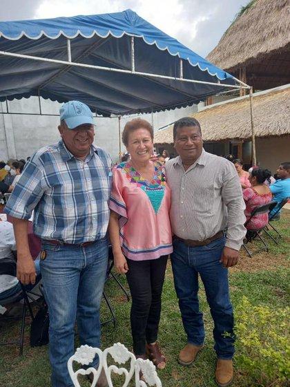 La diputada de Morena presumió el evento (Foto: Diputada Delfina Guzmán)