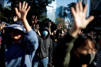 Protestas en Hong Kong. REUTERS/Thomas Peter/File Photo