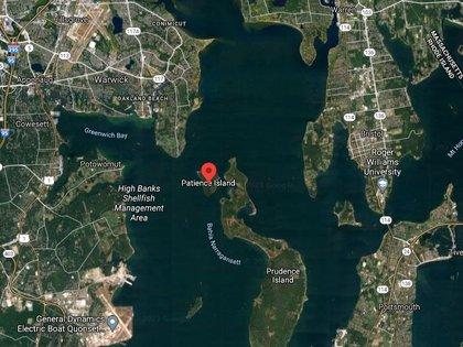 La Isla de la paciencia está ubicada en la bahía de Narragansett, Portsmouth, Rhode Island Foto: (Realtor)