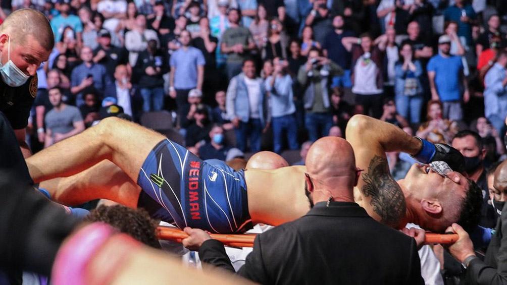 El luchador vivió un episodio similar al que sufrió la Araña Silva en diciembre del 2013, precisamente ante él. En aquella velada de UFC 168