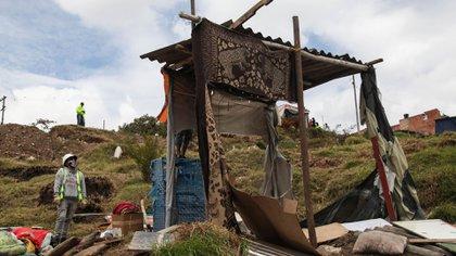 Bogotá. Mayo 14 2020. Catorce días de desalojos en altos de la estancia de la localidad de ciudad bolívar. (Colprensa - Camila Díaz)