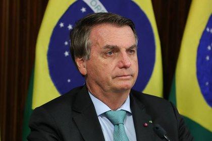 Jair Bolsonaro en la cumbre climática (Marcos Correa/Presidencia de Brasil vía Reuters)
