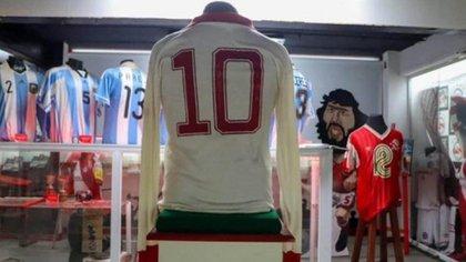 La número 10 usada por Maradona en Argentinos en el año 78 (Museo de Argentinos Juniors)