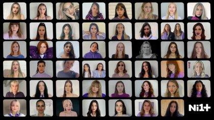 """En el video de """"Ni una más"""" tienen una aparición especial algunas artistas mexicanas, como Danna Paola, Paty Cantú, Carla Morrison, Gloria Trevi y la influencer Nath Campos."""