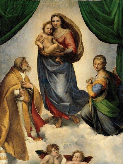 """La """"Madonna sixtina"""", de Rafael Sanzio"""