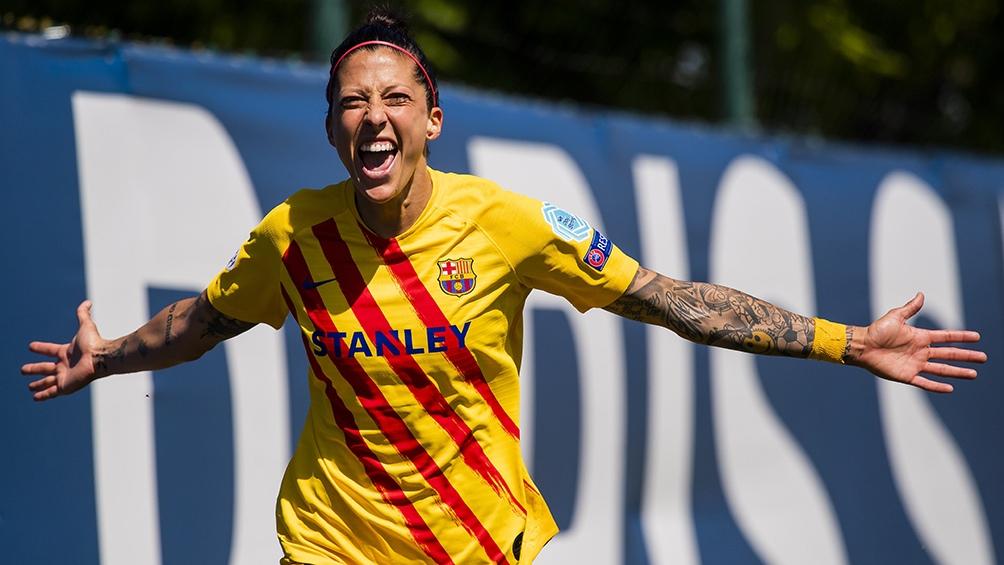 Jennifer Hermoso es una de las cartas fuertes del Barcelona (Twitter).