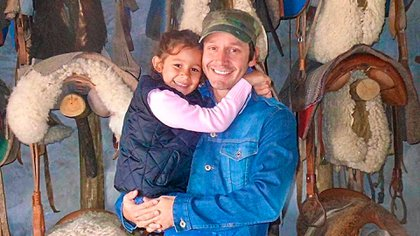 Benjamín Vicuña y su hija Blanquita