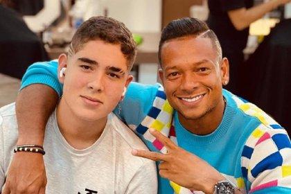 Fredy Guarín y su hijo Daniel. Foto: Instagram @fguarin13