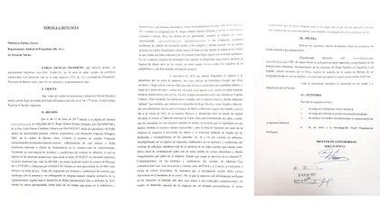Denuncia presenta por Pablo en el Departamento Judicial de Pergamino, en febrero de este año