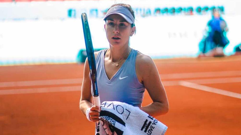 La suiza Belinda Bencic, exnúmero cuatro del mundo, exhibió un tenis de alto vuelo.
