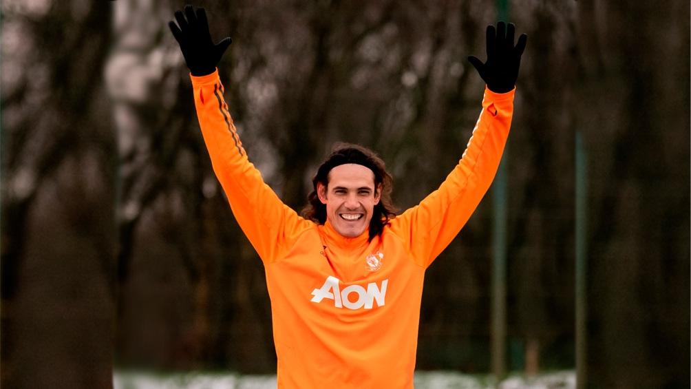 El uruguayo Edison Cavani es la carta goleadora del Manchester United.