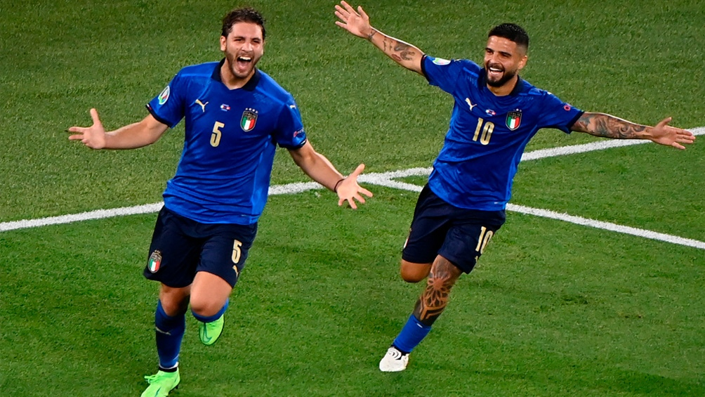El festejo italiano frente a Suiza.