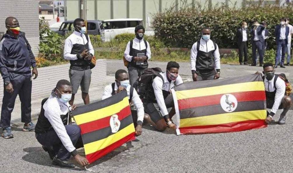 La delegación de Uganda en Tokio 2020.