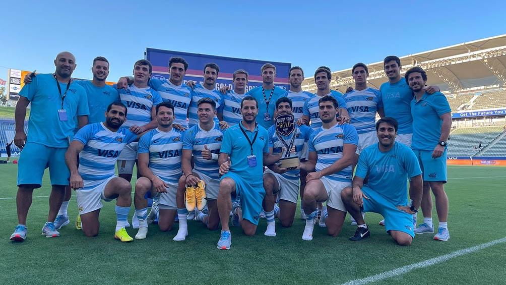 El equipo de los Pumas 7, ganadores de la medalla de bronce en Tokio.