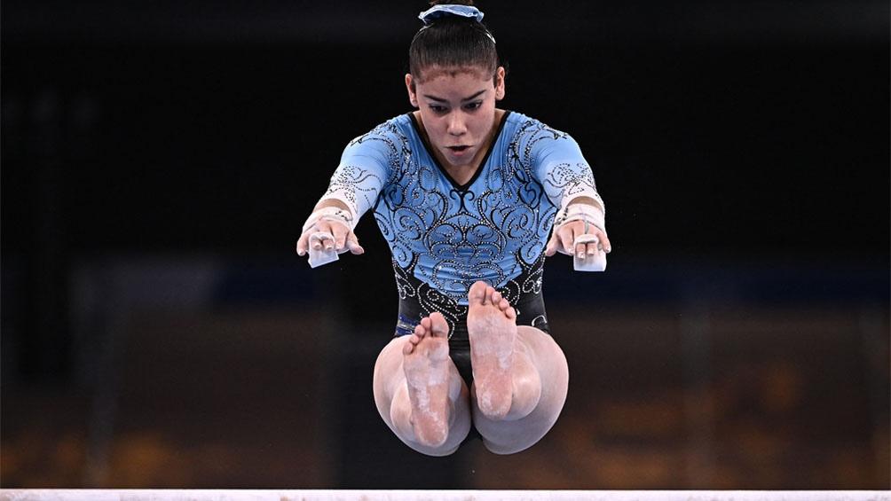 Abigail Magistrati, la atleta más joven de la delegación argentina. Foto: AFP.