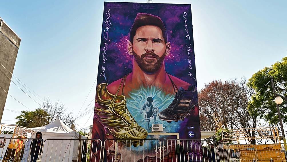 El mural de Messi.