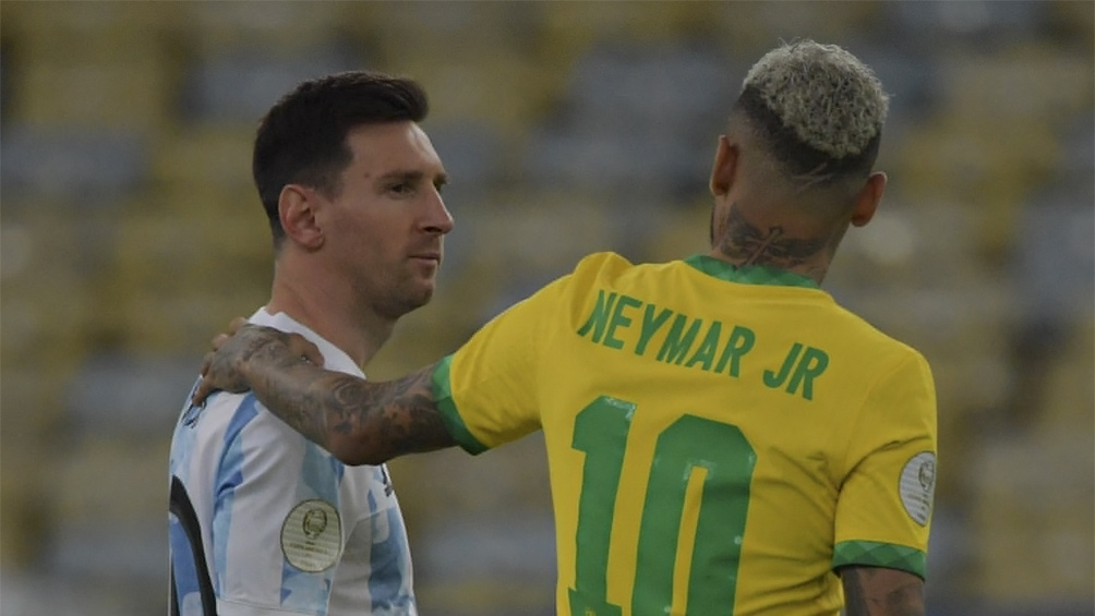 Messi y Neymar, compañeros en el PSG, rivales en las Eliminatorias.