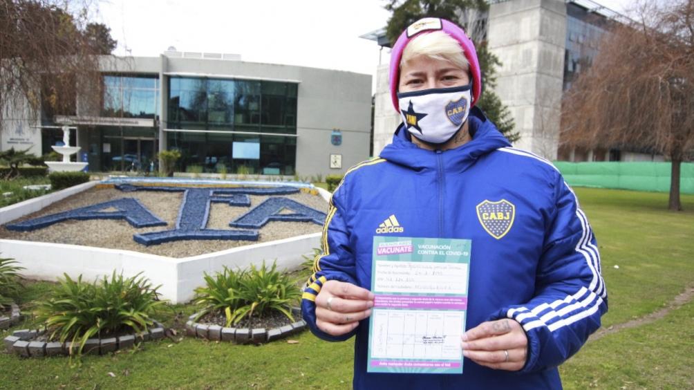 El plantel femenino de Boca fue uno de los primeros en ser vacunados. (@nkreplak)