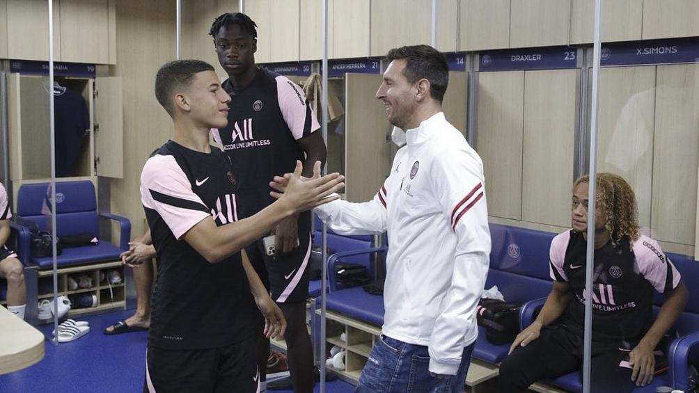 """""""Legendario"""", publicó Gharbi poco después en su cuenta oficial de Instagram, en referencia al capitán del seleccionado argentino."""