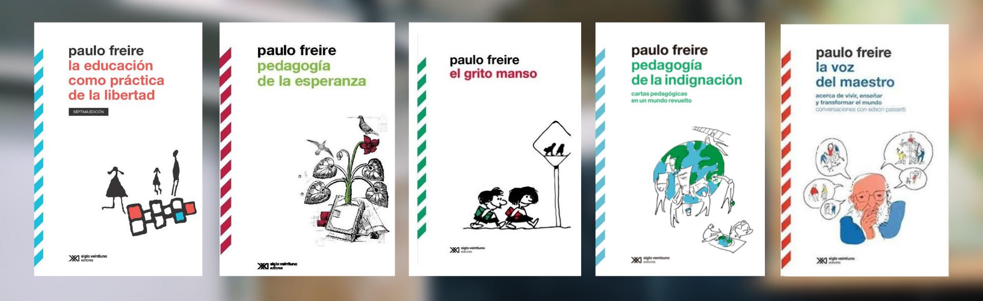 Algunos de los libros que escribió Paulo Freire
